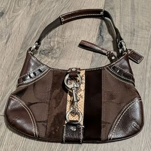 Coach brown snake skin purse